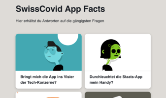 Website des Infoprojektes «SwissCovid App Facts»